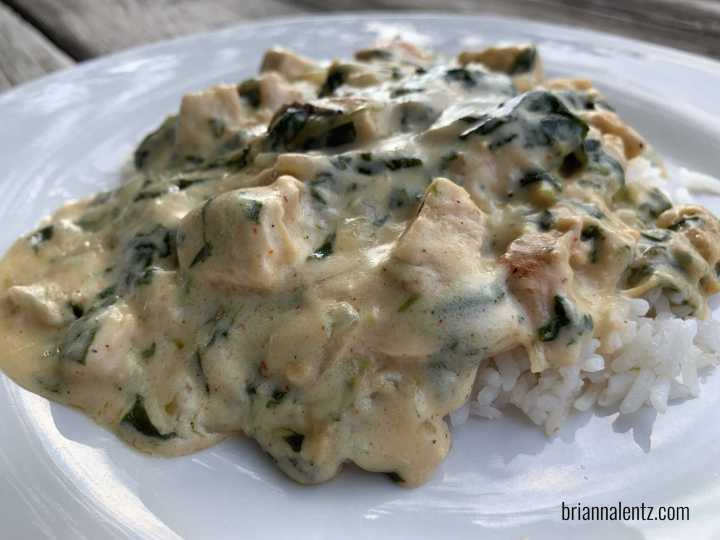 Chicken and Spinach Gravy Recipe