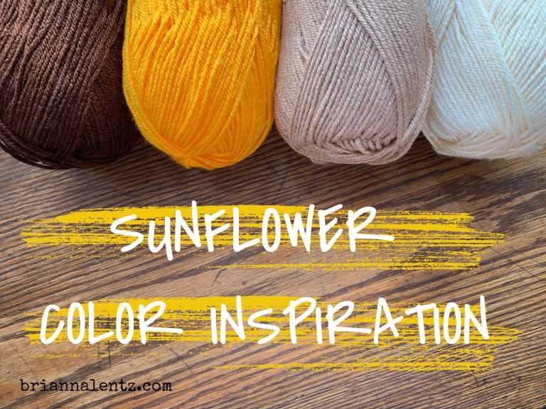 Crochet Sunflower Color Inspiration
