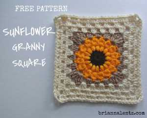 Featured Image for Free Sunflower Granny Square Pattern