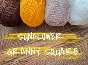 Crochet Sunflower Granny Square IMG 4
