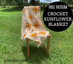 FREE PATTERN - CROCHET SUNFLOWER BLANKET