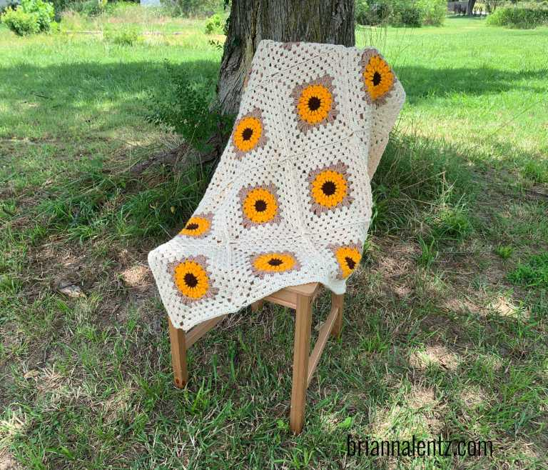 Sunflower Crochet Blanket 2