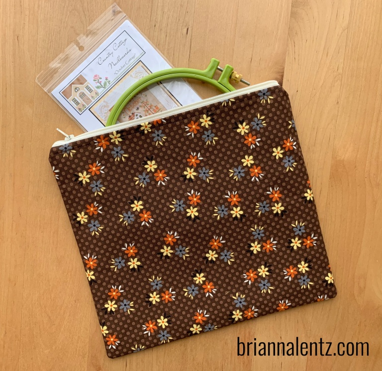 10 inch Vintage Fall Zipper Project Bag