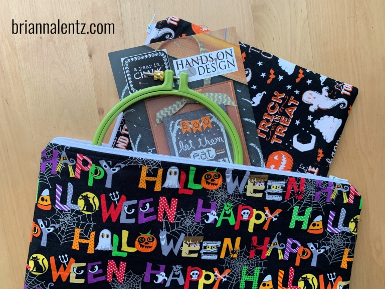 14 inch Halloween Fun Zipper Project Bag