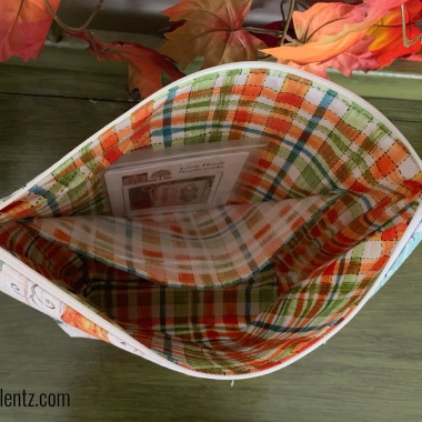 Harvest Zipper Pouch and Project Bag photo to show inside pocket