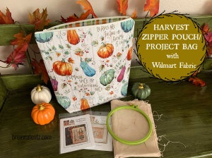 Harvest Zipper Pouch and Project Bag Main Photo