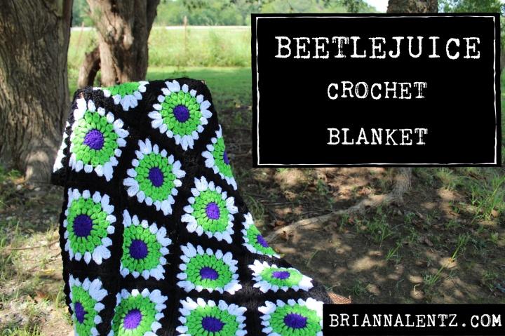 Beetlejuice Blanket – A Crochet Blanket Inspired By Tim Burton'sBeetlejuice