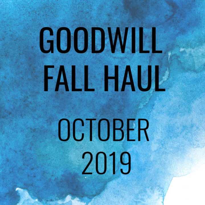 Goodwill Fall Haul – October2019