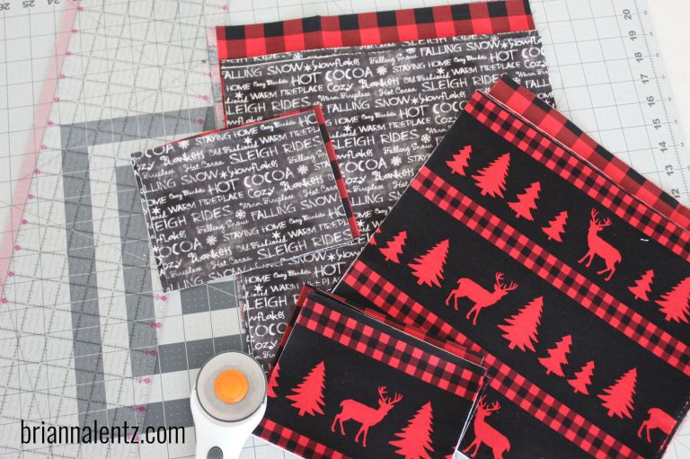 Brianna Lentz Christmas Cross Stitch Project Bags in Progress
