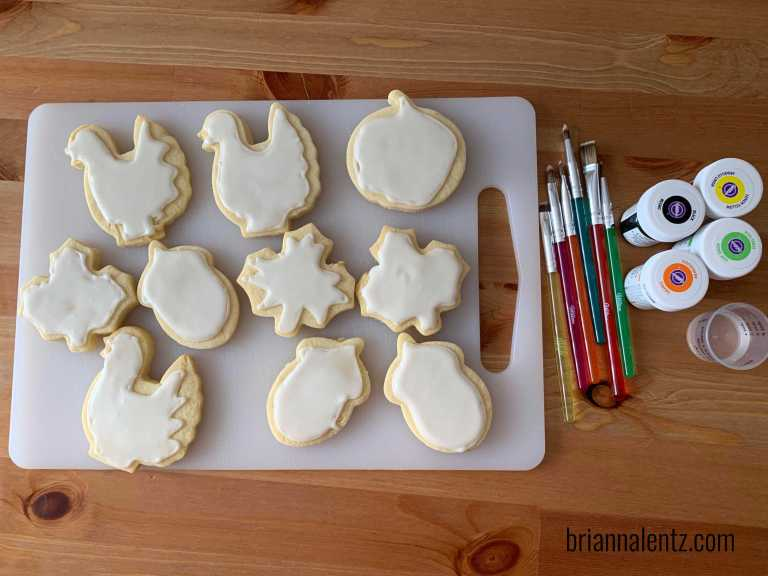 Fall Watercolor Sugar Cookies 2