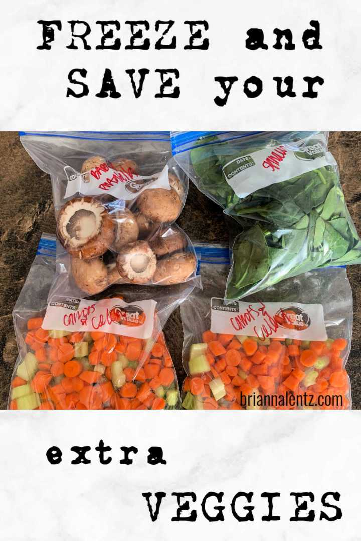 Freeze and Save Your Extra Veggies