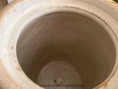 Eagle Pottery 3 Gallon Crock Benton Arkansas inside look