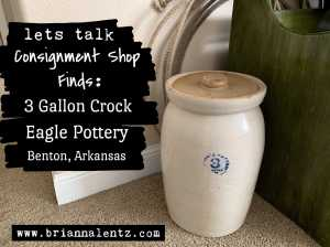 Eagle Pottery 3 Gallon Crock Benton Arkansas Main Photo