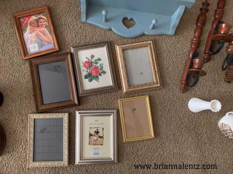 Vintage Frames and Vintage Cross Stitch